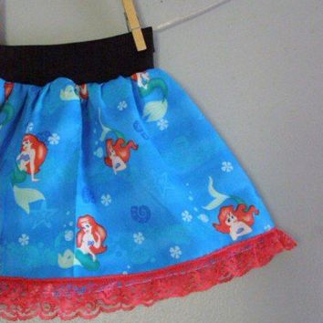 The LITTLE MERMAID TuTu skirt by Poppy Sprouts Ariel