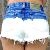 Half Bleached High Waist Shorts MED