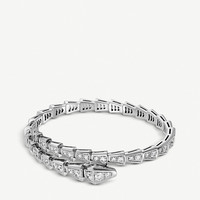 BVLGARI Serpenti 18ct white-gold and diamond bracelet