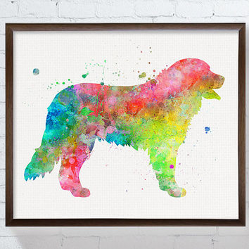 Bernese Mountain Dog, Bernese Mountain Dog Painting, Watercolor Art Print, Bernese Poster, Dog Wall Art, Dog Wall Decor, Kids Room Decor
