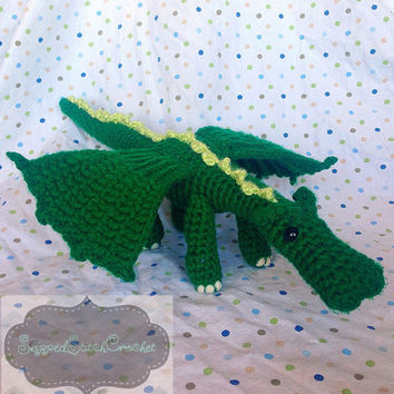 Crochet Stuffed Dragon