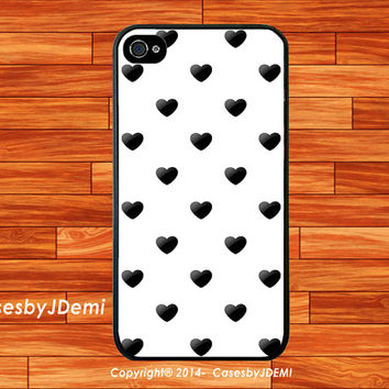 Black Heart Patterns for Galaxy s3/s4, iPhone Case, iPhone 4/4s Case, iPhone 5/5c/5s case, Galaxy Note 2/3 case, Galaxy s3/s4 mini, girly