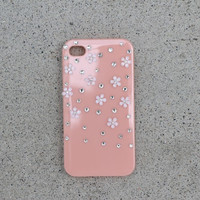 Coral Sparkly Daisy Case - iPhone