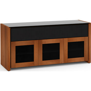 Corsica 65 Inch TV Stand Cabinet Soundbar Opening American Cherry