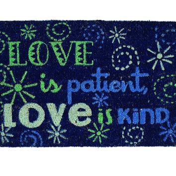 Love is Kind Theme Coir Doormat