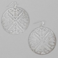 Women's Southwestern Cut-Out Earring in Silver by Daytrip.