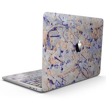Abstract Wet Paint Pale - MacBook Pro with Touch Bar Skin Kit