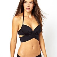 ASOS FULLER BUST Exclusive Underwired Wrap Bikini at asos.com