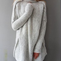 Oversize Casual Long Sleeve Pullover Chunky Knit Sweater