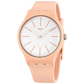 Swatch Beigesounds White Dial Mens Watch SUOT102