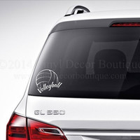 Volleyball Car Decal Vinyl Lettering Bumper Sticker High School Volleyball vinyl decal
