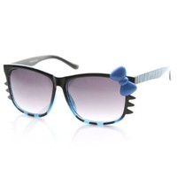 Amazon.com: Animal Print Womens Hello Kitty Bow and Whiskers Sunglasses: Shoes