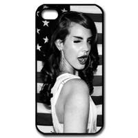 Custombox Lana Del Rey Iphone 4/4s Case Plastic Hard Phone case-iPhone 4-DF01162