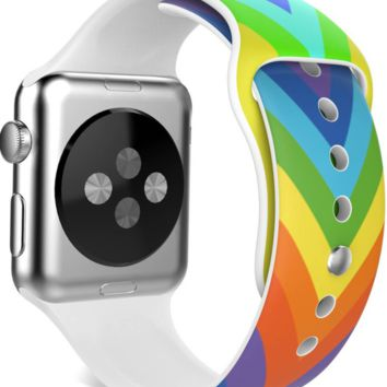 Rainbow Apple Watch Band Silicone iWatch 38mm 42mm
