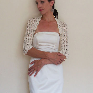 Wedding Bridal Bolero Wedding Bridal Shrug Lace crochet Shrugs & Boleros