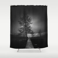 On the wrong side of the lake 9 Shower Curtain by HappyMelvin