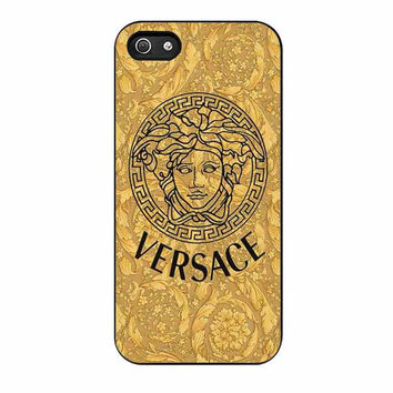 versace gold logo triforce cases for iphone se 5 5s 5c 4 4s 6 6s plus