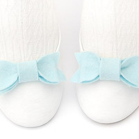 Pale Blue Felt Shoe Bow Clips Modern Trendy Anime by TheBowMakers