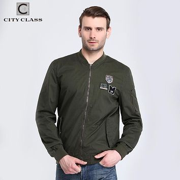 Men Bomber Jackets Washed Cotton Casual Windbreakers Fashion Badges Multi colors Military Costume