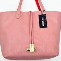 Steve Madden Pale Pink Tote with Smaller Contrasting Cross-Body Zipper Bag NWT