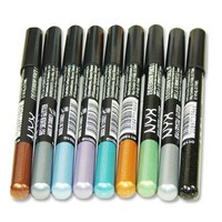 NYX Cosmetics Slim Pencil Eye Liner 9pc Glitter Eye Liner Pencils (9 New Colors)