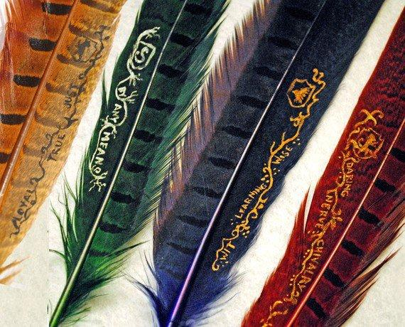 Gryffindor Hogwarts House Quill by FlourishAndBlotts on Etsy