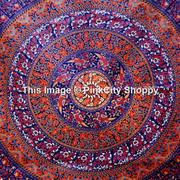 Indian Mandala Hippie Tapestry Wall Hanging Bedding Bedspread Throw Mandala Tapestry Hippie Tapestries Wall Hanging Dorm Tapestry Twin Boho