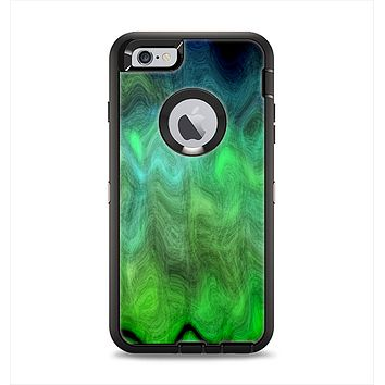The Vivid Green Sagging Painted Surface Apple iPhone 6 Plus Otterbox Defender Case Skin Set