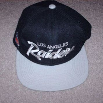 DCK7YE Vintage 80's Los Angeles Raiders Cap Hat Snapback Sports Specialties Team NFL