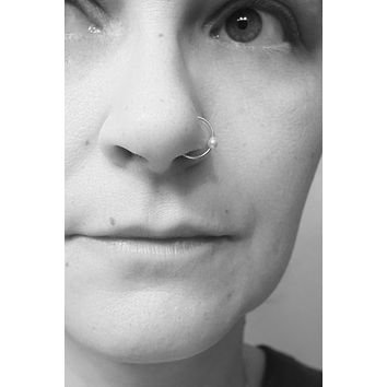 Pearl Nose Hoop Nose Ring