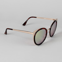 Redux Metallic Frame Cat Eye Sunglasses