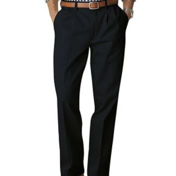 Signature Khaki Pants, Relaxed Fit Pleated - Dockers Navy - Men's