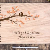 Guest Book Tree, Wood Wedding Book, Love Birds Guest Book, Wood Wedding Guest Book Birds, Guest Book Wood, Wedding Book Wood, Wedding Tree
