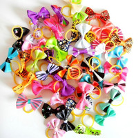 20pcs/10pairs Assorted Dog Cat Gift Grooming Pet Hair Bows Rubber Bands Accessories