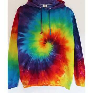 Bahama Nights Tie Dye Hoodie (Ready for Dispatch)