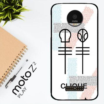 Twenty One Pilots Skeleton Clique X3438 Motorola Moto Z2 Play Case