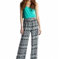 As U Wish Tribal Belted Jump Suit - Belk.com