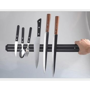 NC  Wall-mounted Magnetic Self-adhesive 21 inches Length Knifes Holder Stainless Steel Block Magnet Knife Holder Rack Stand