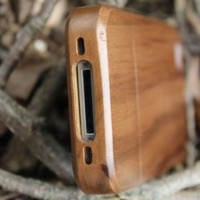 eimolife Unique Handmade Natural Walnut Hard Case Cover for iphone 4 4s(Plain): Cell Phones & Access
