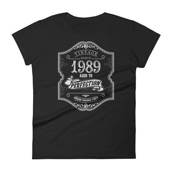 Women's 1989 Birthday Gift, Vintage Born in 1989, 29th Birthday shirt for her, Made in 1989 T-shirt, 29 Year Old Birthday Shirt