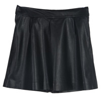 Black Pu Zip Embellished A-line Skirt - Choies.com