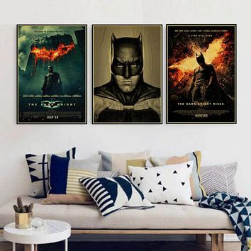Vintage DC Comics Batman Joker HD Movie Poster Retro Kraft Paper Bar Cafe Home Decor Painting Wall Sticker