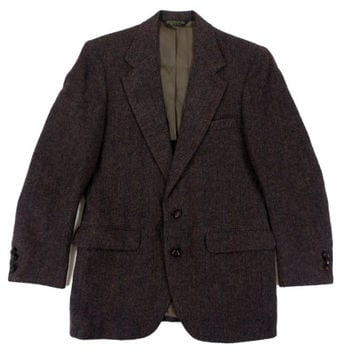 Vintage Sport Coat in Brown Herringbone Tweed - Blazer Jacket Wool Ivy League Menswear - Men's Size 38 Medium Med M