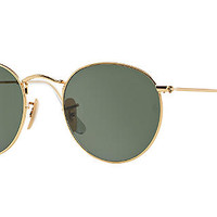 Ray-Ban RB3447 47 ROUND METAL Sunglasses | Sunglass Hut