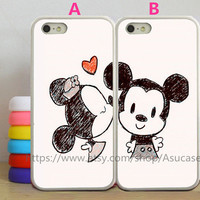 Disney Mickey Mouse and Minnie Mouse John Smith Couple Cases,iPhone 5s Case iPhone 4 /4s Cases,Samsung Galaxy S3,S4,S5 Note2 Note3 case