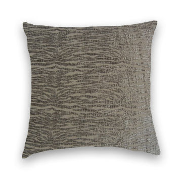 Grey Chenille Contemporary Decorative Pillow Cover 20 x 20- Throw Pillow-- Accent Pillow--Grey