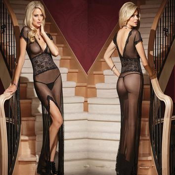 Womens Beautiful Sexy Lace Nightgown Babydoll Lingerie