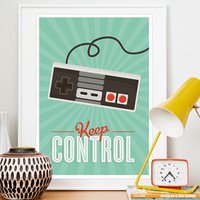 Retro Videogame Art positive quote Print Hipster by handz