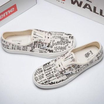 DCCKIJG VANS X COMME des GARCONS Canvas Old Skool Flats Sneakers Sport Shoes