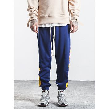 Men Pattern Casual Pants Trousers Sweatpants